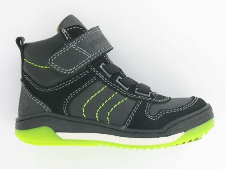 Primigi CROSTA High Top  Velcro School Sneakers (Blk/Neon) 38 only!